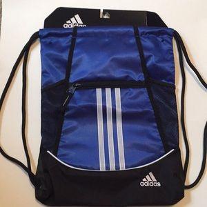 Adidas Drawstring Bag Blue